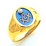 Blue Lodge Ring MAS72476BL