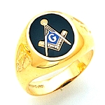 Blue Lodge Ring MAS802BL