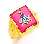 Blue Lodge Ring MAS894BL