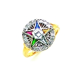 Order of the Eastern Star Ring GLC200ES