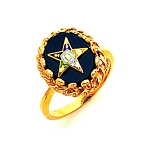 Order of the Eastern Star Ring Onyx MAS57358