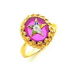 Order of the Eastern Star Ring Red MAS57358