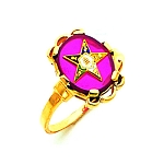 Order of the Eastern Star Ring Red MAS57359