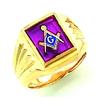 Gold Plated Blue Lodge Ring MASCJ1171