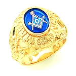 Gold Plated Blue Lodge Ring MASCJ1181
