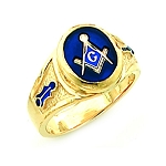 Gold Plated Blue Lodge Ring MASCJ60341