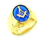 Gold Plated Blue Lodge Ring MASCJ60944