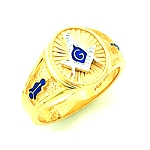 Gold Plated Blue Lodge Ring MASCJ61381