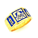 Gold Plated Blue Lodge Ring MASCJ792001