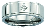 Blue Lodge Stainless Steel Ring 8MM