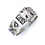 Sterling Silver Scottish Rite Ring MASCJ1520SR