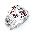 Sterling Silver Shriner Ring MASCJ1557SH