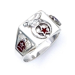 Sterling Silver Shriner Ring MASCJ1692SH