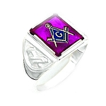 Sterling Silver Blue Lodge Ring MASCJ264