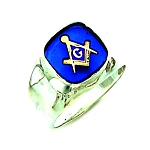 Sterling Silver Blue Lodge Ring MASCJ329