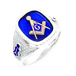 Sterling Silver Blue Lodge Ring MASCJ540