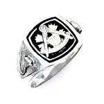 Sterling Silver Past Master Ring MASCJ593PM
