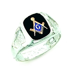 Sterling Silver Blue Lodge Ring MASCJ60338