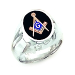 Sterling Silver Blue Lodge Ring MASCJ60944