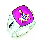 Sterling Silver Blue Lodge Ring MASCJ60987