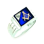 Sterling Silver Blue Lodge Ring MASCJ7281
