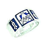 Sterling Silver Blue Lodge Ring MASCJ792001