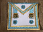 Master Mason Apron with Gold Accents Real Lambskin