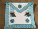 Master Mason Apron with Silver Accents Real Lambskin