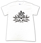 Rustic Square & Compass with Working Tools T-Shirt