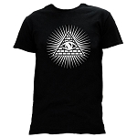 Small Black Shining Triangle All Seeing Eye T-Shirt