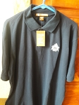 X-Large Navy Blue Blend-Tek Polo with Embroidered Shining Square & Compass