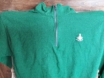 Green X-Large Quarter Zip Sweatshirt with Embroidered Past Master Symbol