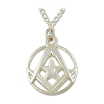 CoMasonic Square & Compass Necklace - 3/4'' to 1 1/4'' Diameter