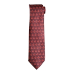 Square & Compass Red Tie
