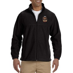 32nd Degree Embroidered Masonic Men's Fleece Full-Zip Jacket
