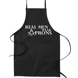 Real Men Wear Aprons Masonic Cooking Kitchen Apron
