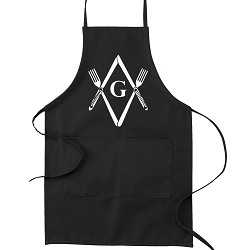 Knives & Forks Square & Compass Masonic Cooking Kitchen Apron