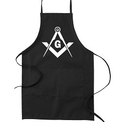 All Seeing Eye Square & Compass Masonic Cooking Kitchen Apron
