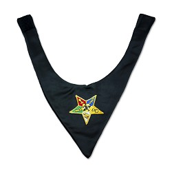 Order of the Eastern Star Satin Masonic Cravat - [Black]