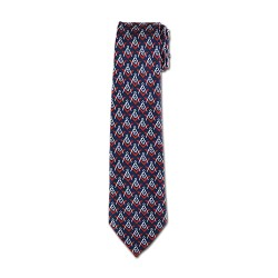 Square & Compass Masonic Neck Tie - [Blue & Red]