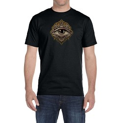Crowned All Seeing Eye Masonic Men's Crewneck T-Shirt