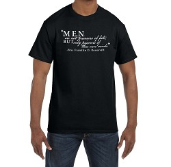Men are not Prisoners of Fate but Only of Their Own Minds Masonic Men's Crewneck T-Shirt
