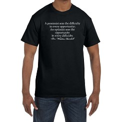 A Pessimist Sees Difficulty an Optimist Sees Opportunity Masonic Men's Crewneck T-Shirt