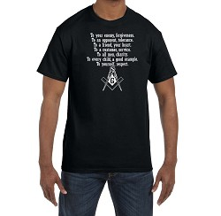 To Your Enemy Forgiveness Masonic Men's Crewneck T-Shirt