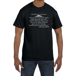 Always Act with Integrity and be Impeccable with Your Word Masonic Men's Crewneck T-Shirt