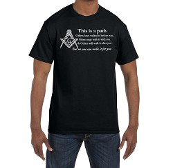 This is a Path no One can Walk for You Masonic Men's Crewneck T-Shirt