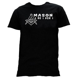 Mason 2B1ASK1 Square & Compass Masonic Men's Crewneck T-Shirt - [Black]
