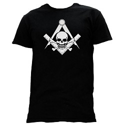 Widow's Son Square & Compass Masonic Men's Crewneck T-Shirt - [Black]