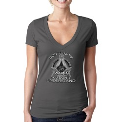 Don't Hate What You Don't Understand Masonic Women's V-Neck T-Shirt