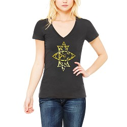 Stylized Order of the Eastern Star Masonic Women's V-Neck T-Shirt